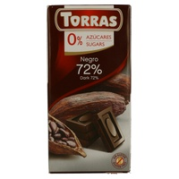 Chocolat Torras 72% cacao sans sucre