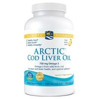 Arctic Cod Liver Oil 750 mg Lemon