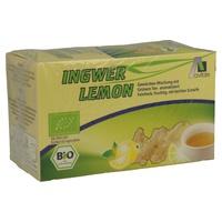 Infusión de jengibre, limón y té verde