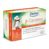 Beta Caroteno 36 cápsulas de Dietisa
