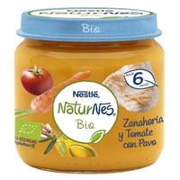 Nestlé Naturnes BIO de Zanahoria y Tomate con Pavo 6m+