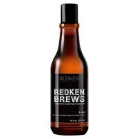 3-in-1 shampoo for men redken brews