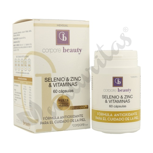 Selenio y Zinc Vitaminas para la Piel