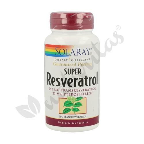 Super Resveratrol 30 cápsulas de Solaray - Kal