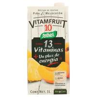 Zumo de piña y melocotón Vitamfruit 10