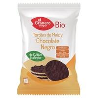 Tortitas de maíz y chocolate negro