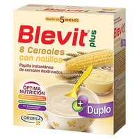 Blevit Plus Duplo 8 Cereais com Custard 5m +