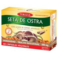 Seta de ostra con aceite de espino amarillo