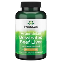 Desiccated Beef Liver 500 mg 100% Pure Defatted