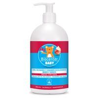 Żel do kąpieli i bio szampon dla niemowląt z truskawkami z organicznym kremem
