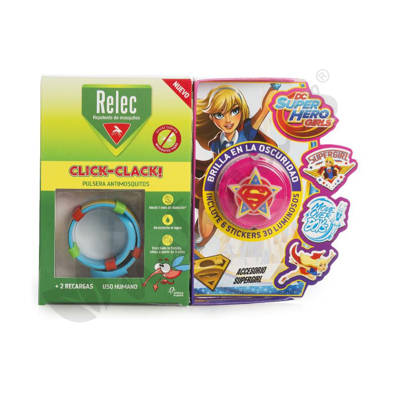 12672abbb940 Pulsera Antimosquitos Super Girl