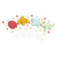 Les amis des jardins ( unité) Insectes 100% coton avec graines à germer-Produits en papier à planter