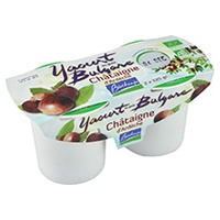 Yogurt con castañas