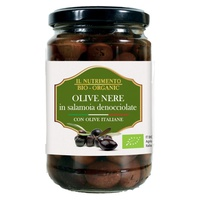 Pitted black olives in brine