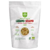 Mezcla de semillas de cáñamo y sésamo con kale, tomate y cebolla ECO