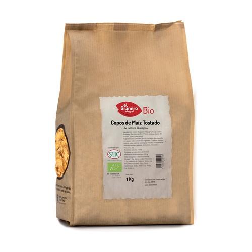 Copos de maíz tostado Bio