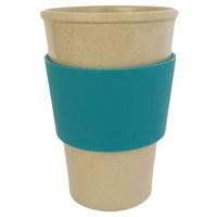 Vaso Ecofriendly de Fibra de Arroz con Antideslizante de Silicona Turquesa