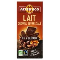 Chocolate con leche y caramelo al punto de sal bio