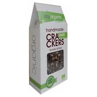 Cracker Crudivegano de Tomate y Albahaca