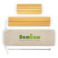 Pajitas de bambú 22 & 13 cm