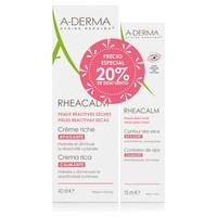 A-derma Pack Rheacalm Crema Rica + Contorno de ojos