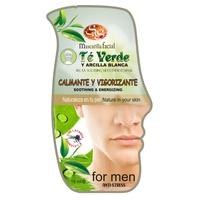 Męska maska do twarzy z zielonej herbaty i białej glinki