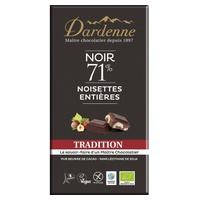 Tableta de chocolate negro con avellanas 71% tradicional