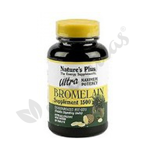 Ultra Bromelaina 60 comprimidos 1500 mg de Nature's Plus
