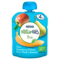 Bolsita Puré de Fruta Pera, Manzana y Plátano Bio
