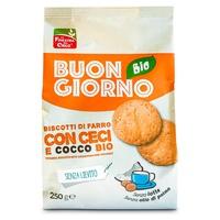 Buongiornobio® Bolachas de Espelta com Grão-de-bico e Coco sem levedura