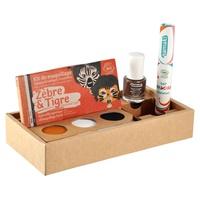 "Wild Life Box Kit 3 ""Zebra & Tiger"", bronze varnish and orange hair mascara"