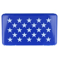 Rectangular Blue Star Mask Storage Box