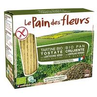 Pan de Flores con lentejas verdes Bio