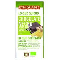 Organiczna ciemna czekolada z konfitowanym imbirem