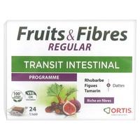Frutas e fibras regulares