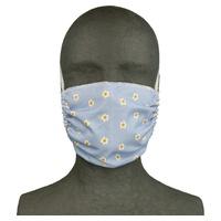 Maska kwiatowa z tkaniny wielokrotnego użytku