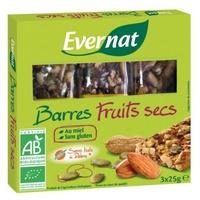 Barritas de Frutos Secos Bio Sin Gluten