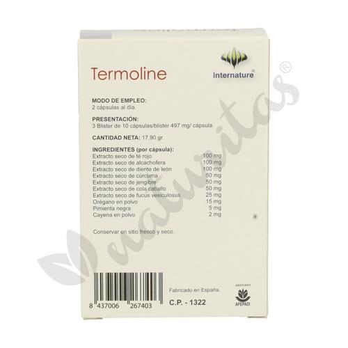 Termoline 30 cápsulas de Internature