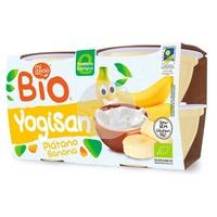 Yogisan Banana and Organic Yogurt jars