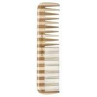 Peine doble de bambú desenredante