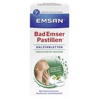 Emsan Bad Emser Pastillen ohne Zucker mit Kräuter