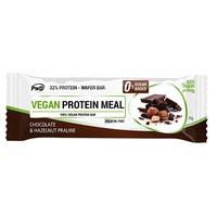 Barre de chocolat végétalien protéiné avec praliné aux noisettes