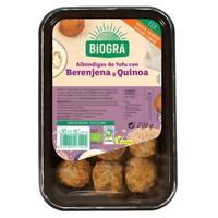 Albóndigas de Tofu, Berenjenas y Quinoa