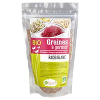 Semillas para germinar - Rábano blanco Bio