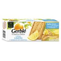 Galleta de limón y amapola