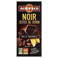 Chocolate negro con limón bio