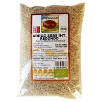 Organischer runder halber ganzer Reis