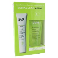 Sebiaclear active + gel moussant gift set