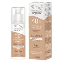 Crème solaire visage teinte claire SPF30