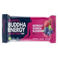 Organiczny i wegański baton Buddha Energy z burakiem, komosą ryżową i żurawiną